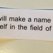 The best fortune cookie fortune I've ever gotten