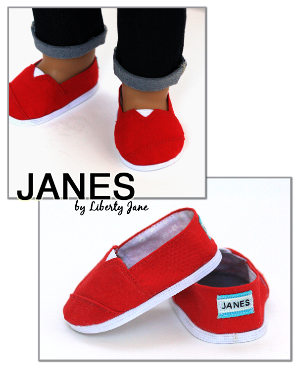 Red JANES shoes