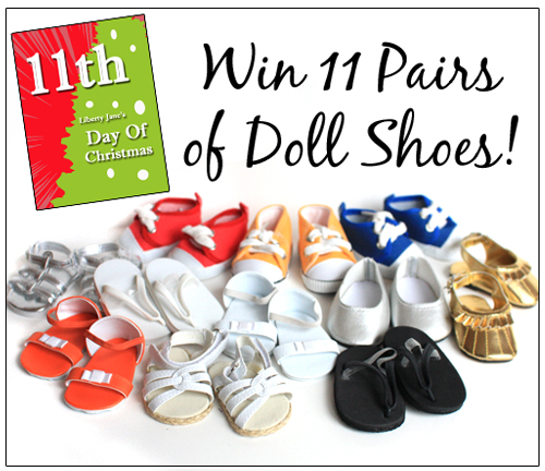 Day 11 Doll Shoes Giveaway
