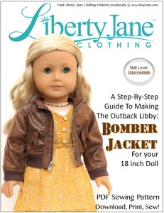 Liberty Jane Bpmber Jacket 18 inch Doll Clothes Pattern